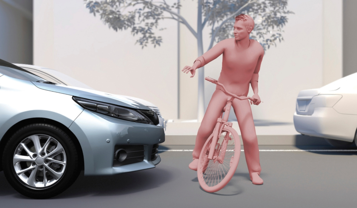 Toyota Safety Sense pre-collision system cyclist