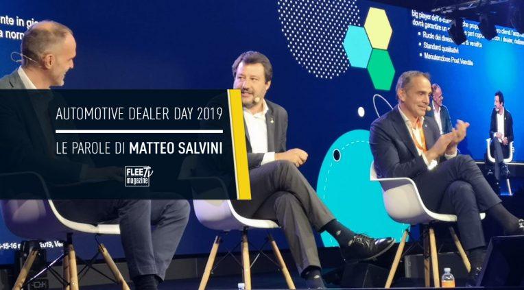 Matteo Salvini all'Automotive Dealer Day 2019