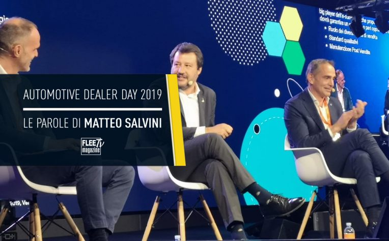 Matteo Salvini all'Automotive Dealer Day 2019