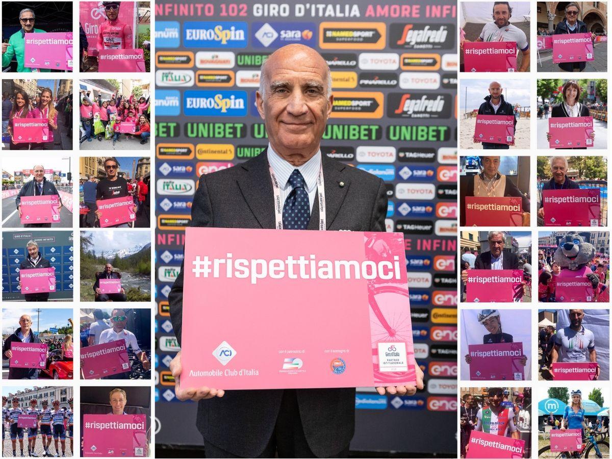 ACI ha presentato la campagna di sensibilizzazione sulla sicurezza stradale al Giro d'Italia 2019