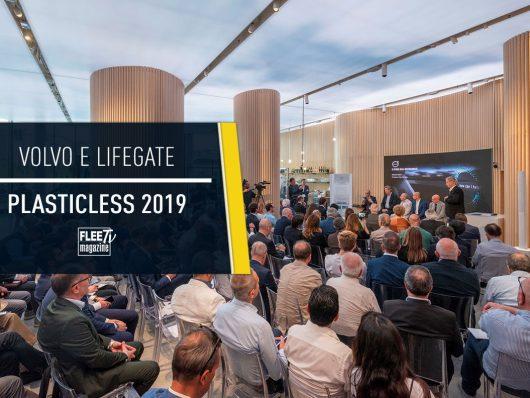 Cover Volvo e LifeGatepe ril progetto PlasticLess 2019