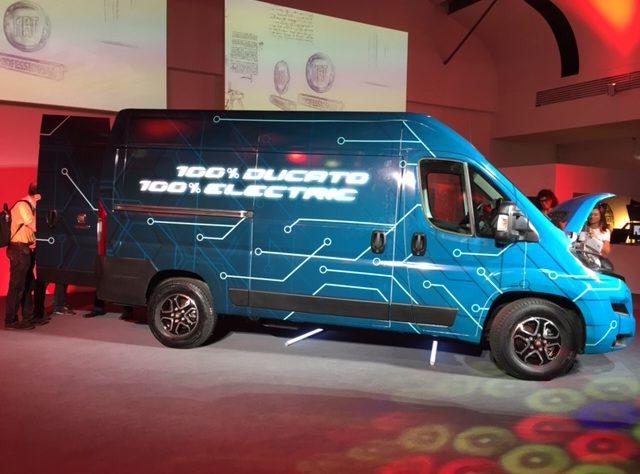 Il design del nuovo Fiat Ducato 2020 elettrico