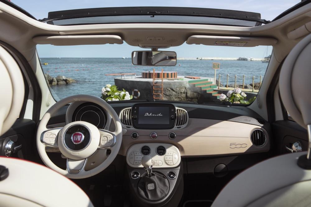Plancia legno nautico di Fiat 500 Dolcevita