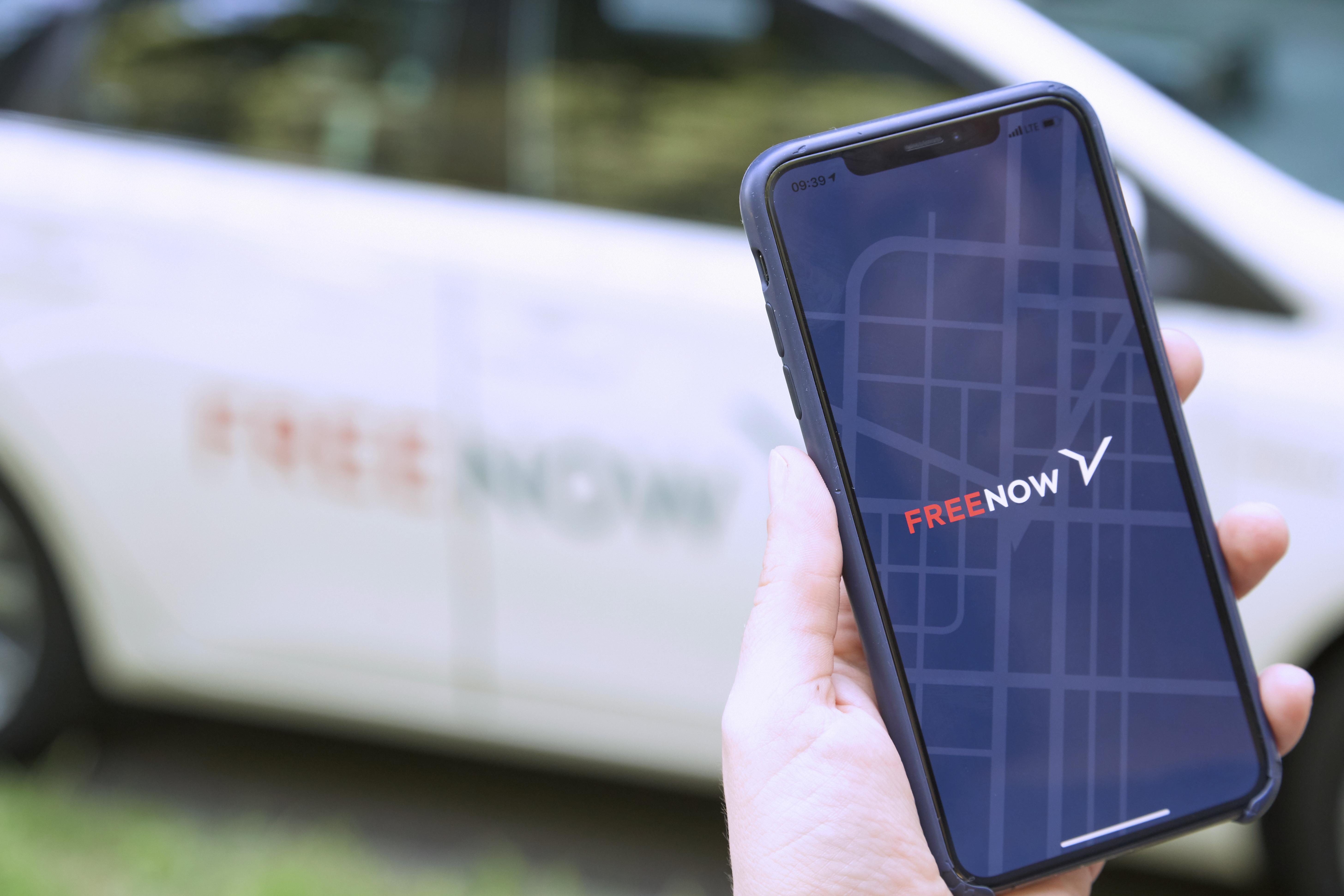 La nuova app di Free Now er il servizio taxi