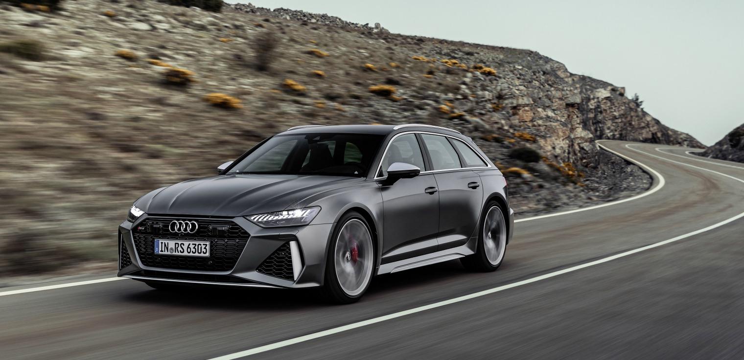 nuova Audi RS 6 Avant 2020 su strada