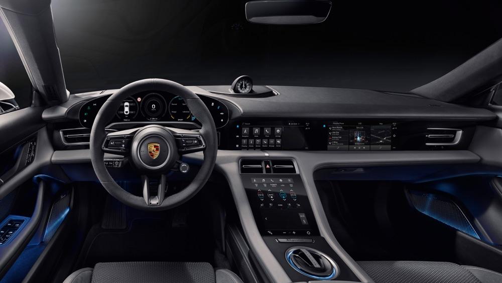 Interni di Porsche Taycan