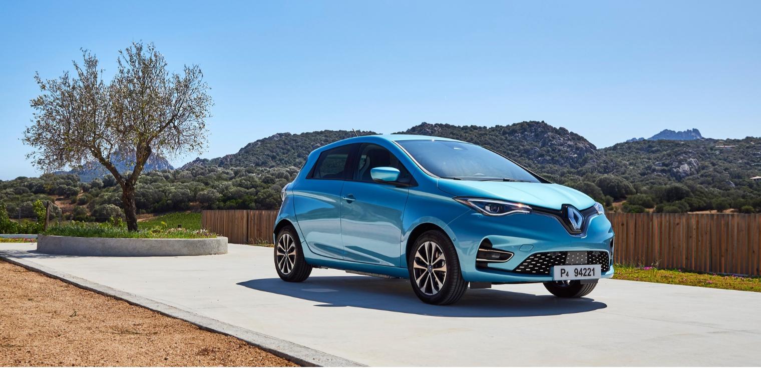 Nuova Renault Zoe 2020 su strada