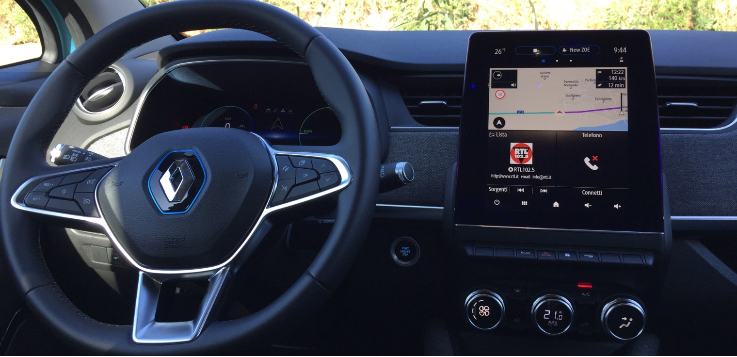 Nuova Renault Zoe 2020 sistema infotainment