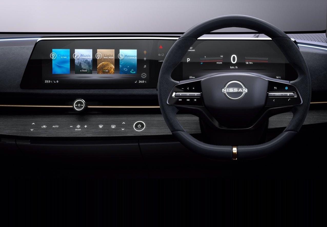 Interni di Nissan Ariya Concept