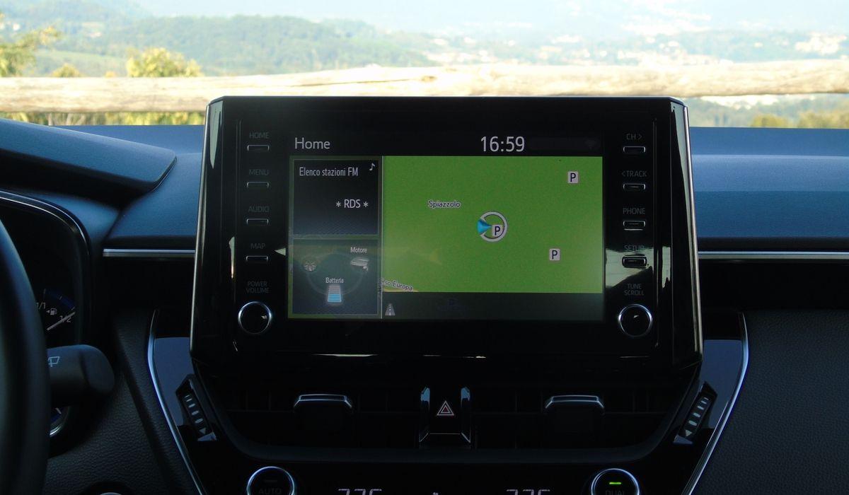 Nuova Toyota Corolla 2020 sistema multimediale