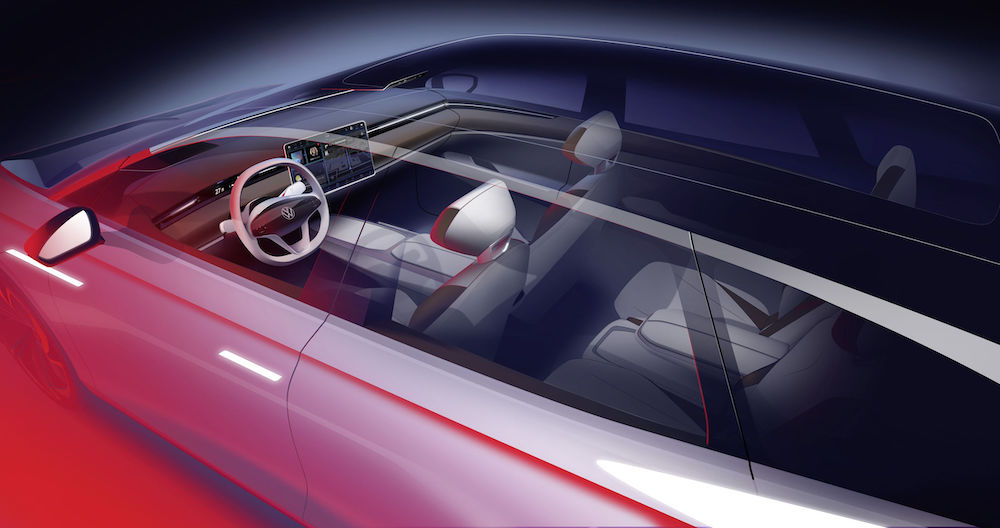 Interni di Volkswagen ID. Space Vizzion
