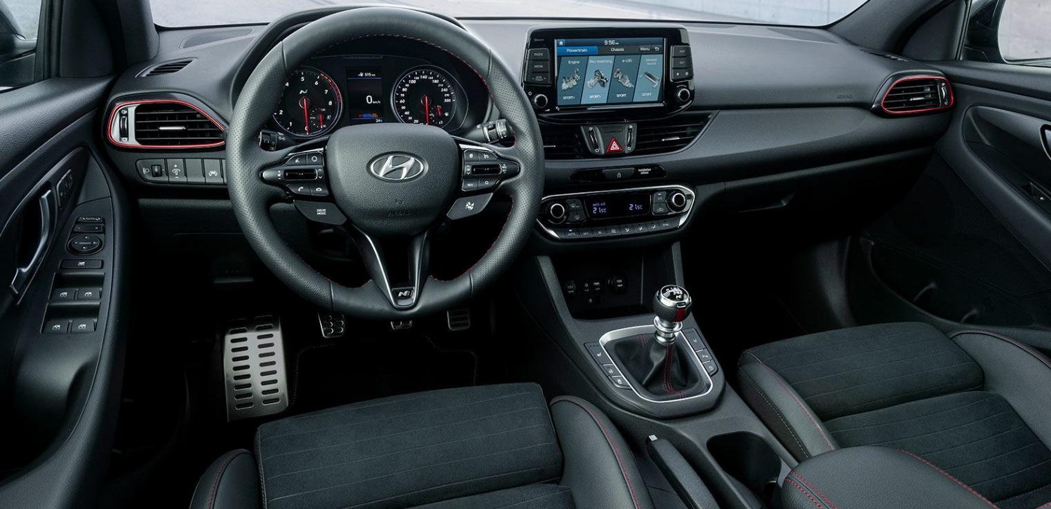 Nuova Hyundai i30 Fastback N 2020 abitacolo