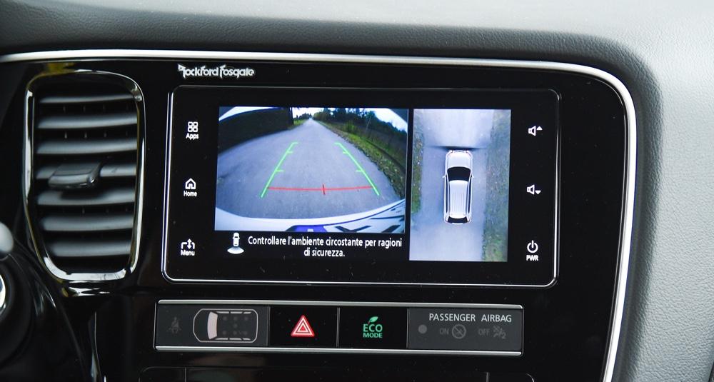 Retrocamera parcheggio su Mitsubishi Outlander PHEV