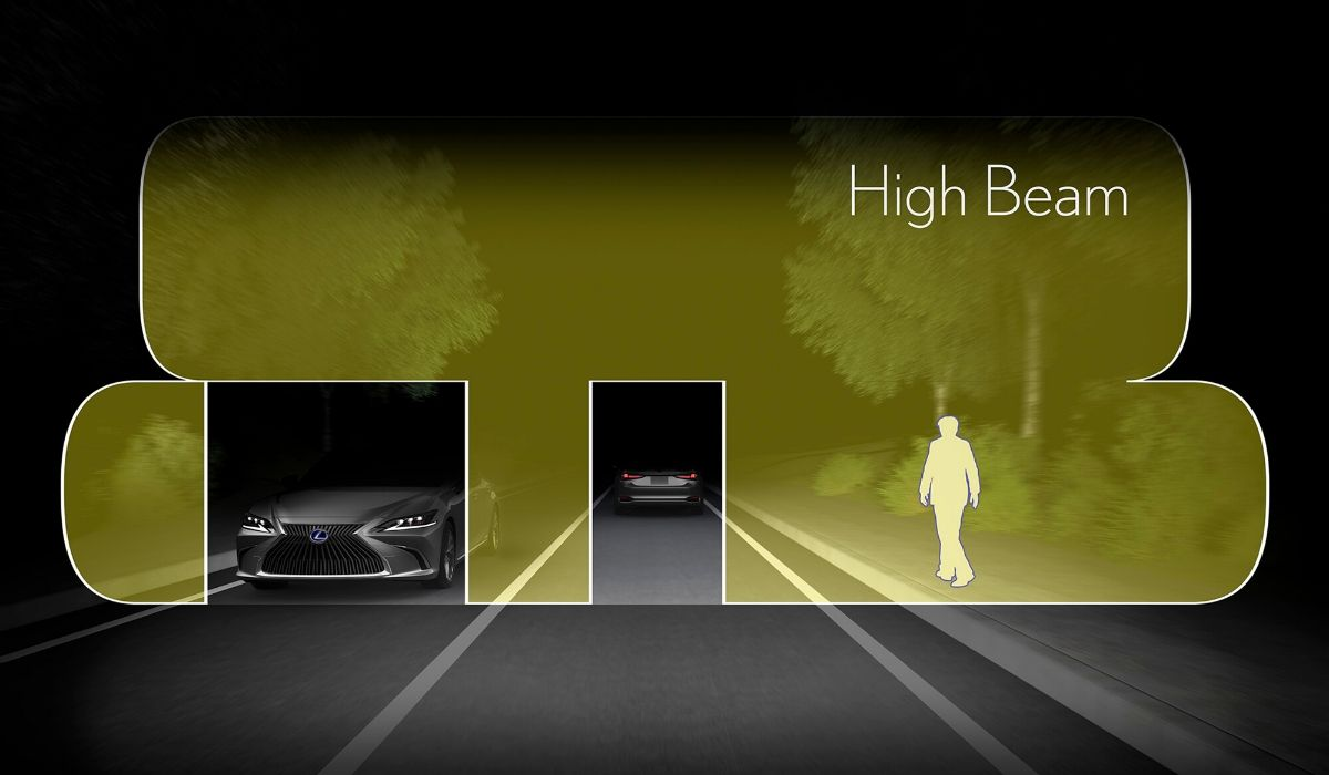 Nuova Lexus ES 2020 fari adattivi