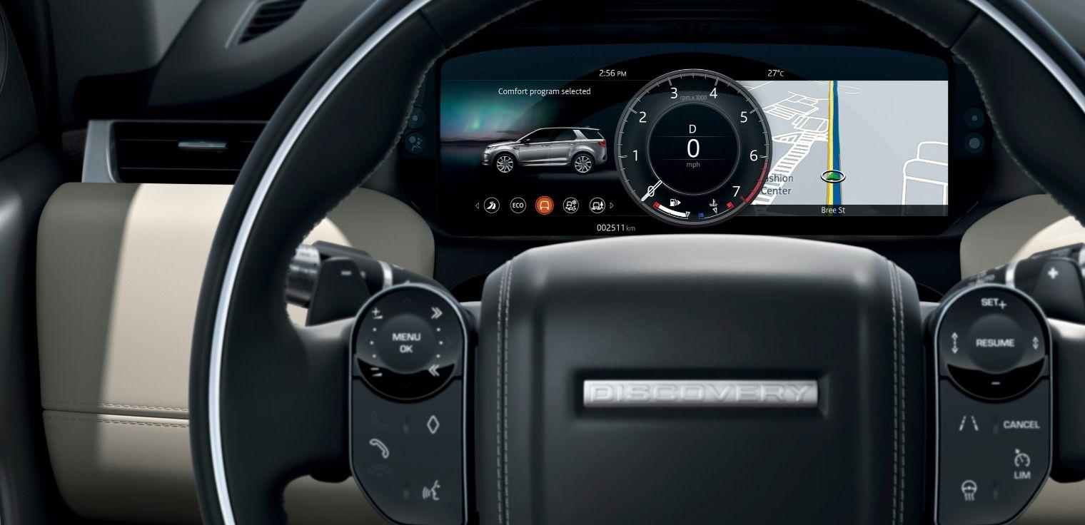 Nuova Land Rover Discovery Sport 2020 quadro strumenti