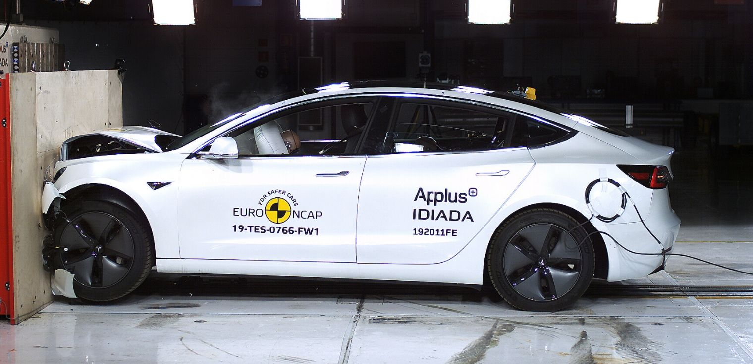 Nuova Tesla Model 3 test euro ncap