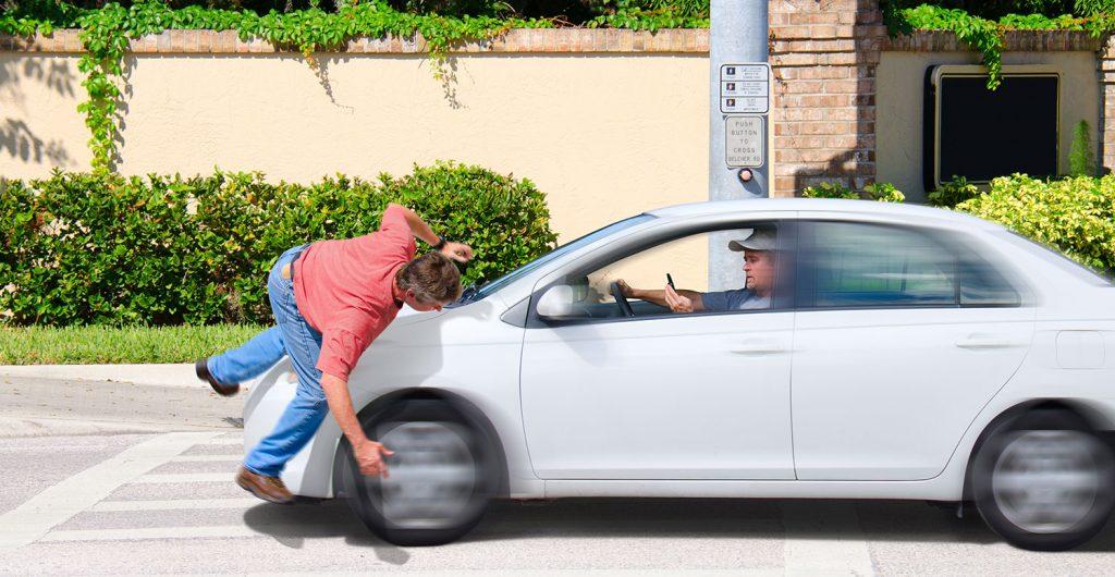 incidente d'auto con pedone