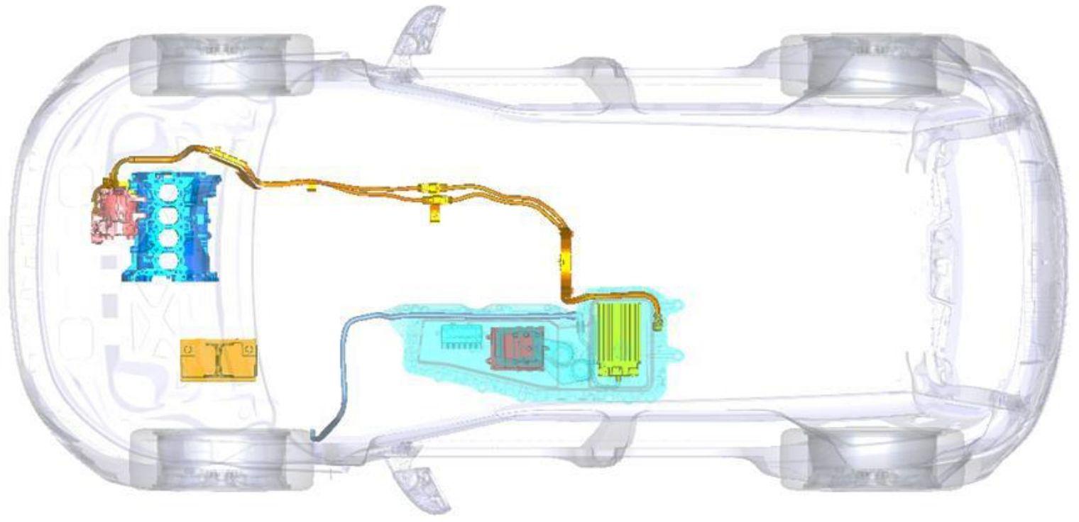 Sistema mild hybrid Range Rover Evoque