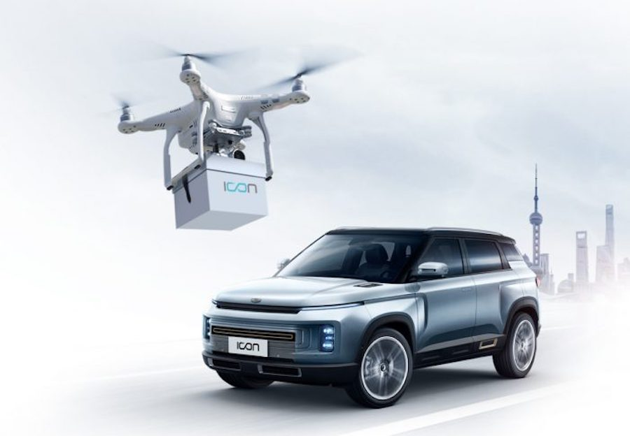 Geely consegna chiavi col drone