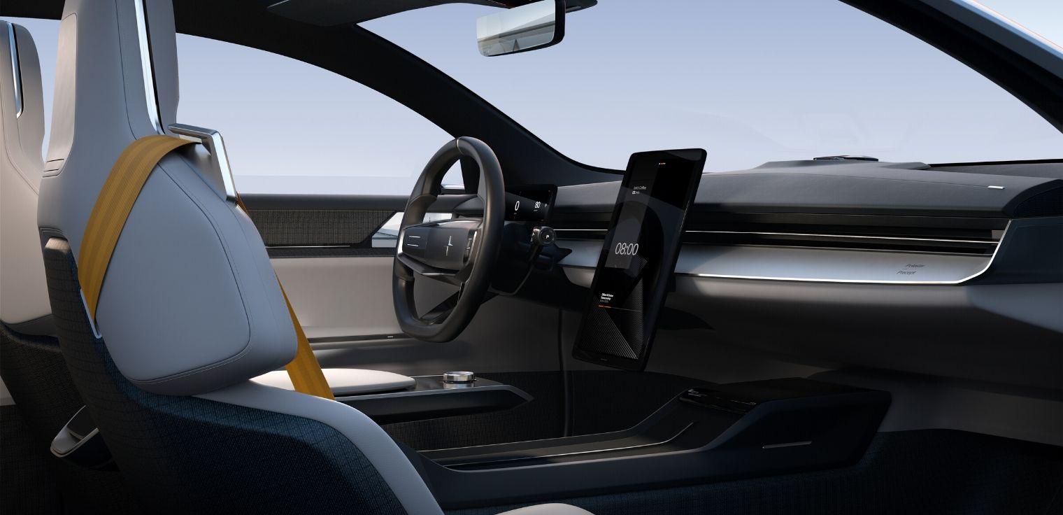 Polestar Precept concept car abitacolo