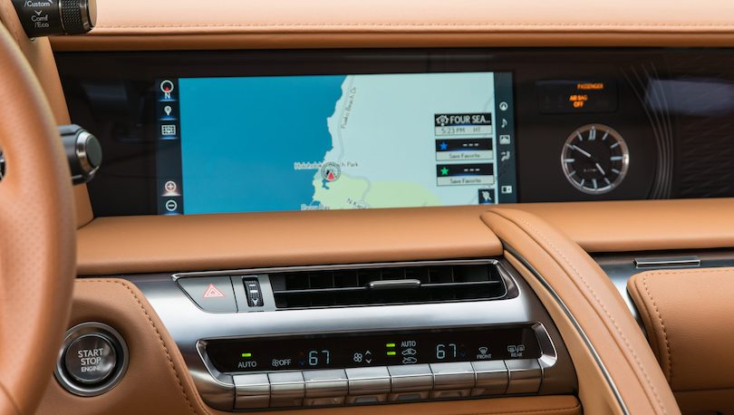 Lexus LC 2021 infotainment