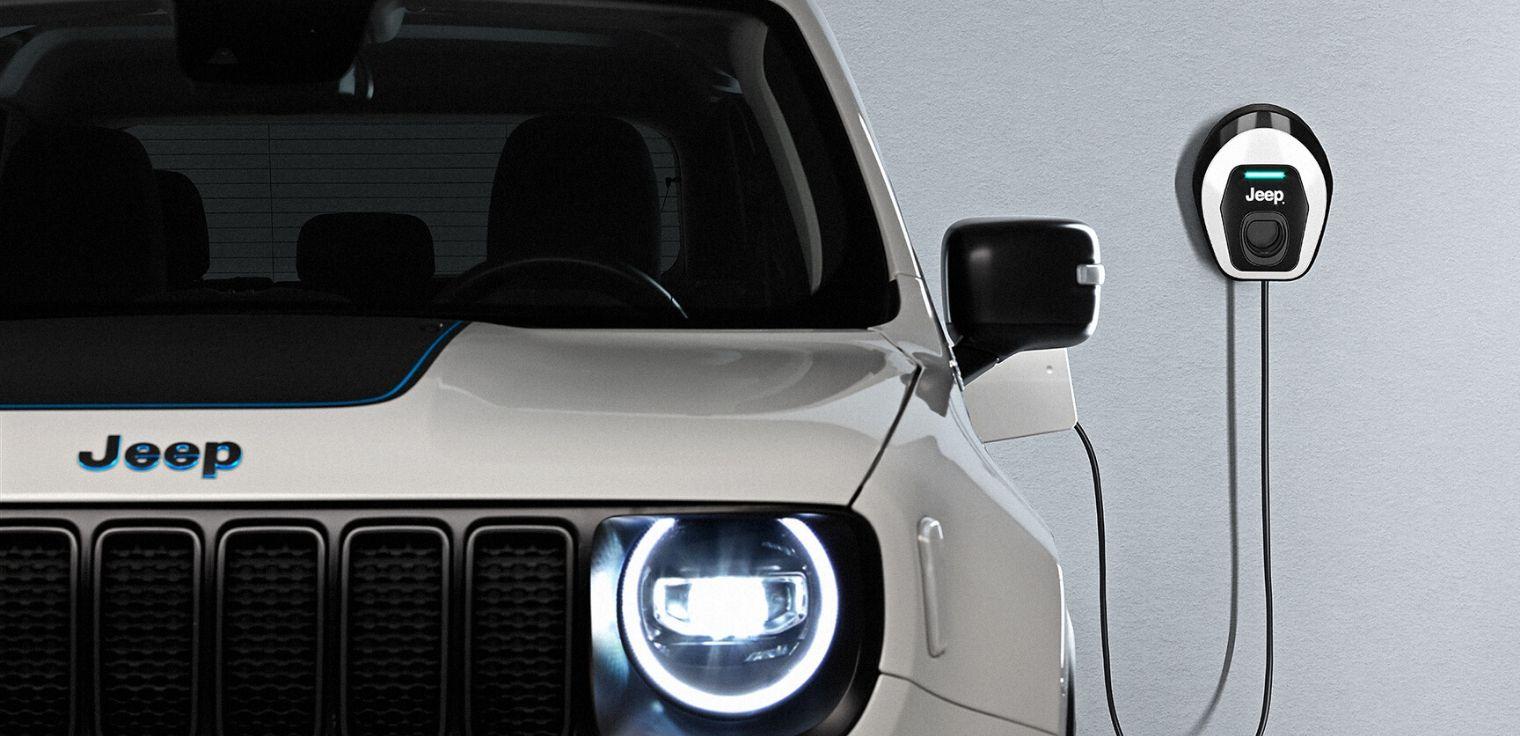 Nuova Jeep Renegade 4xe ibrida plug-in ricarica