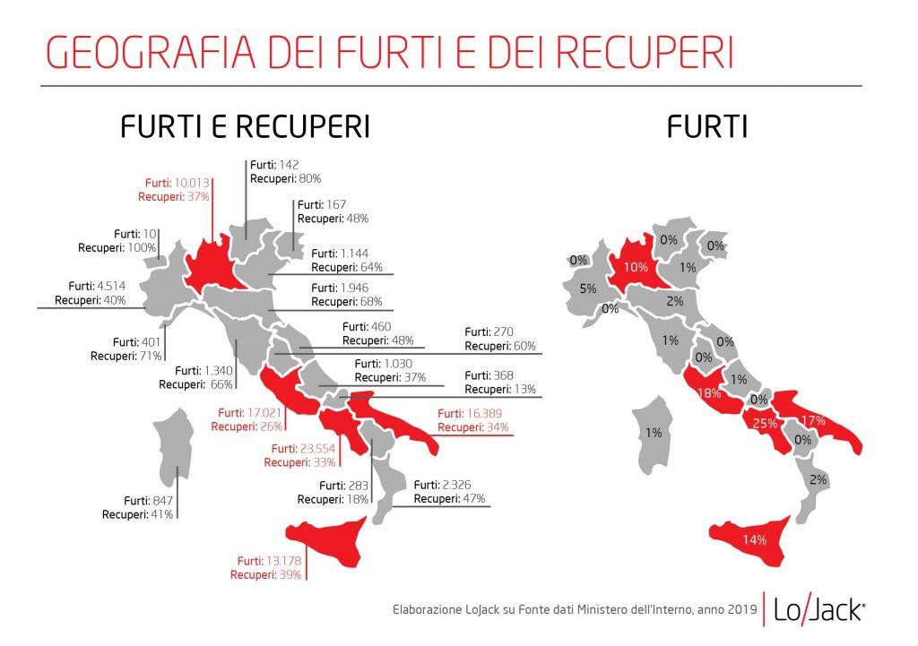 Infografica 3_GEOGRAFIA DEI FURTI E DEI RECUPERI