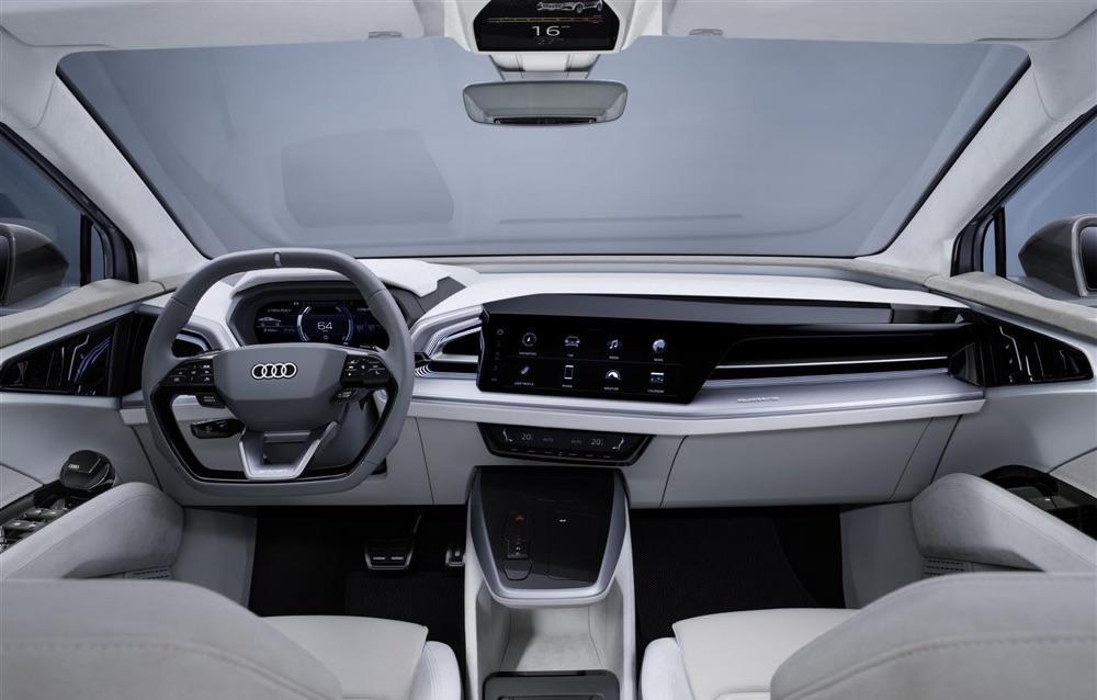 Interni di Audi Q4 Sportback e-tron