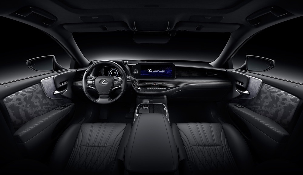 Interni di Lexus LS 2021