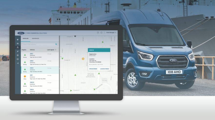telematica integrata geotab sui veicoli ford 1