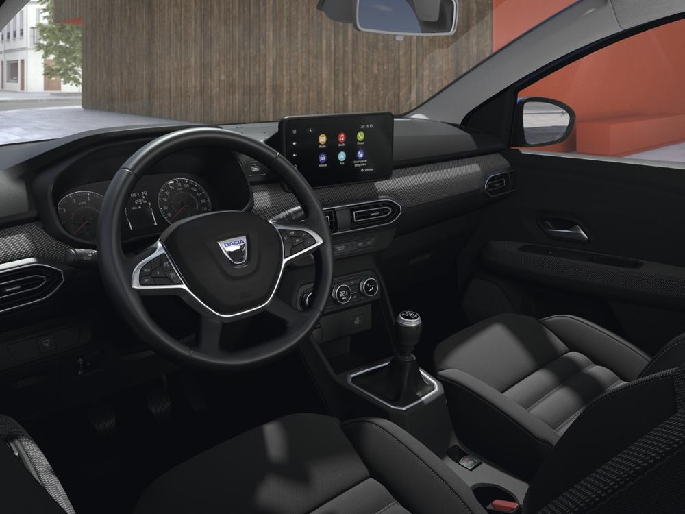 Interni di Nuova Dacia Sandero