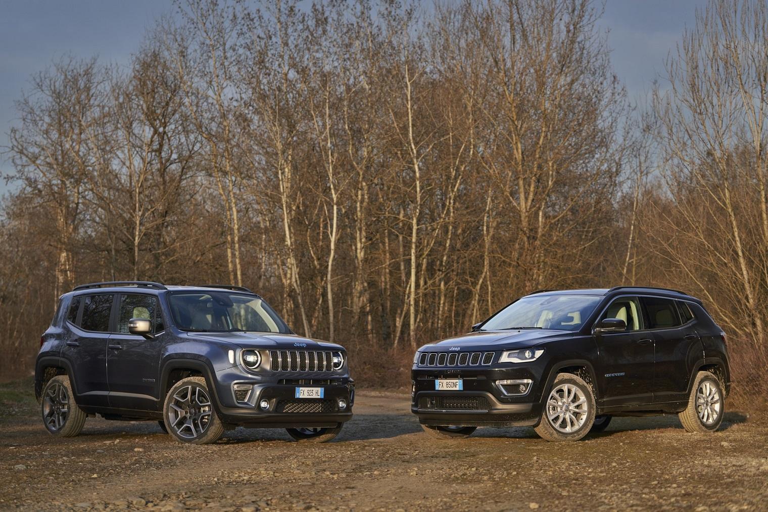 Nuove Jeep Renegade 4xe e Compass 4xe