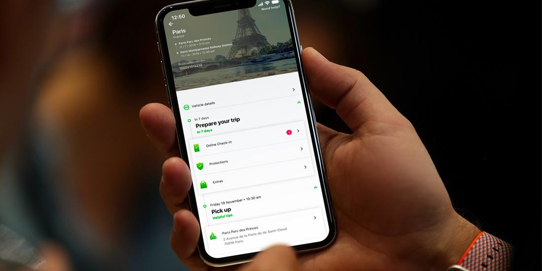 app Europcar noleggio breve termine