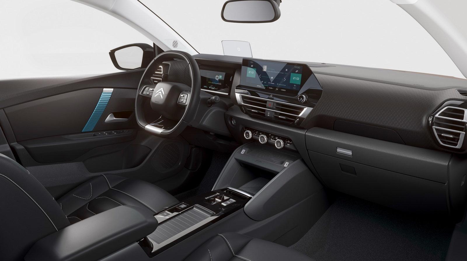 Nuova Citroën e-C4: la plancia completamente rinnovata