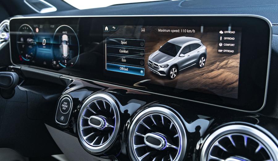 Dotazione Mercedes GLA ibrida plug-in