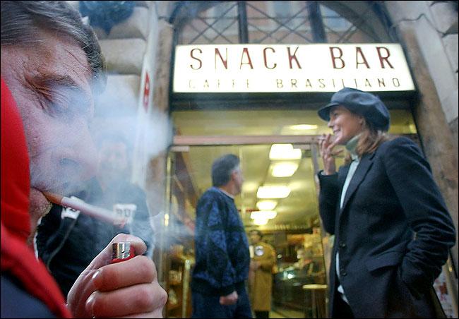divieto fumo all'aperto milano