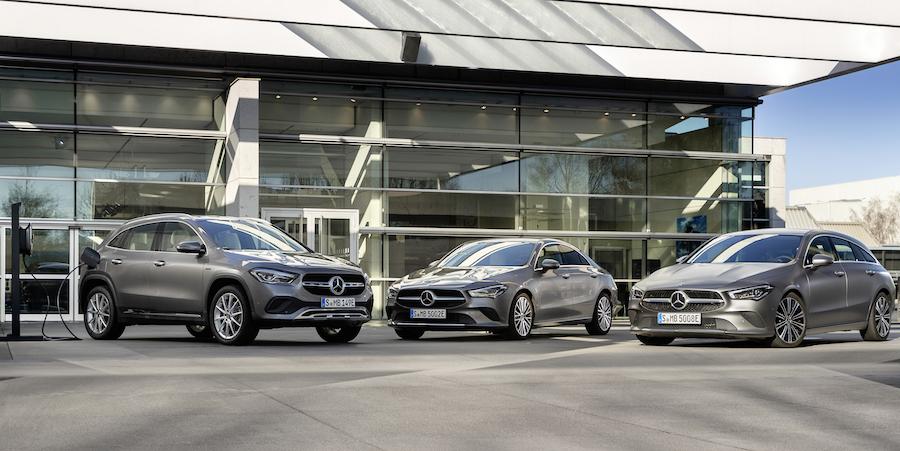 Gamma Mercedes compatte ibride plug-in