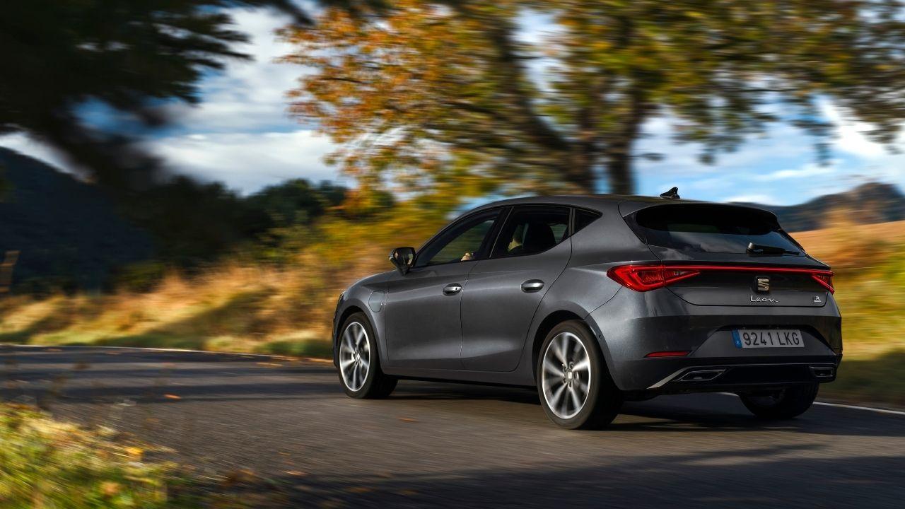 Il posteriore scenico di Seat Leon e-Hybrid