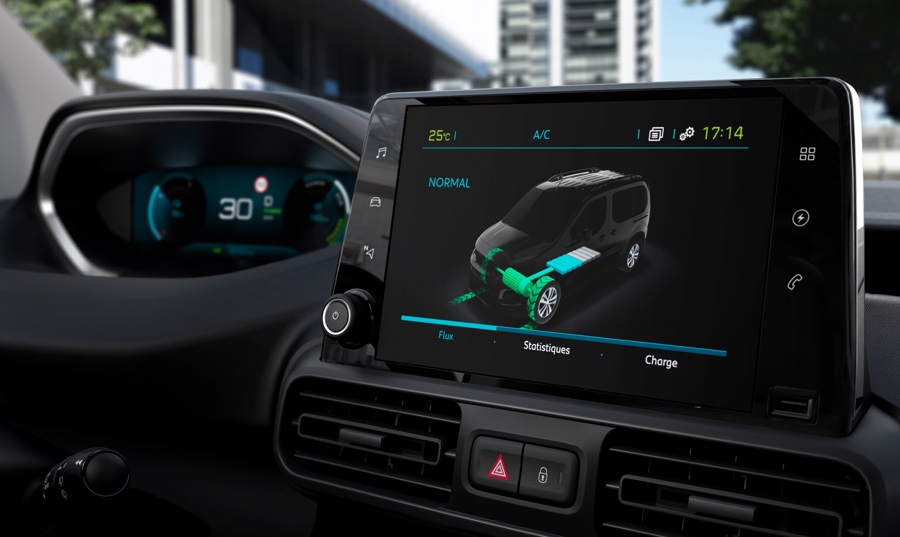 Infotainment iCockpit di Peugeot Partner elettrico
