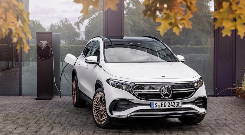 ricarica di Mercedes EQA