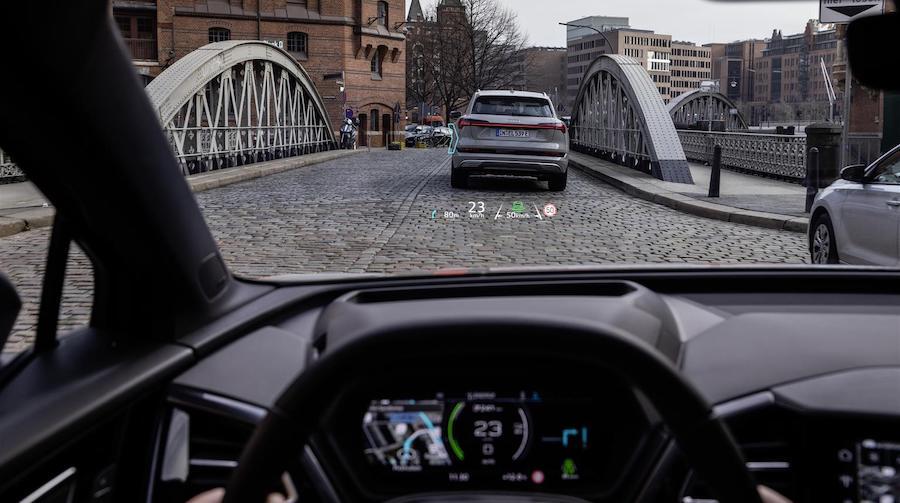Audi Q4 e-tron realtà aumentata