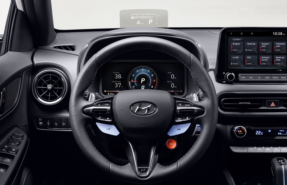 Infotainment di Hyundai Kona N