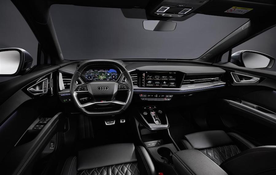 interni di Audi Q4 e-tron