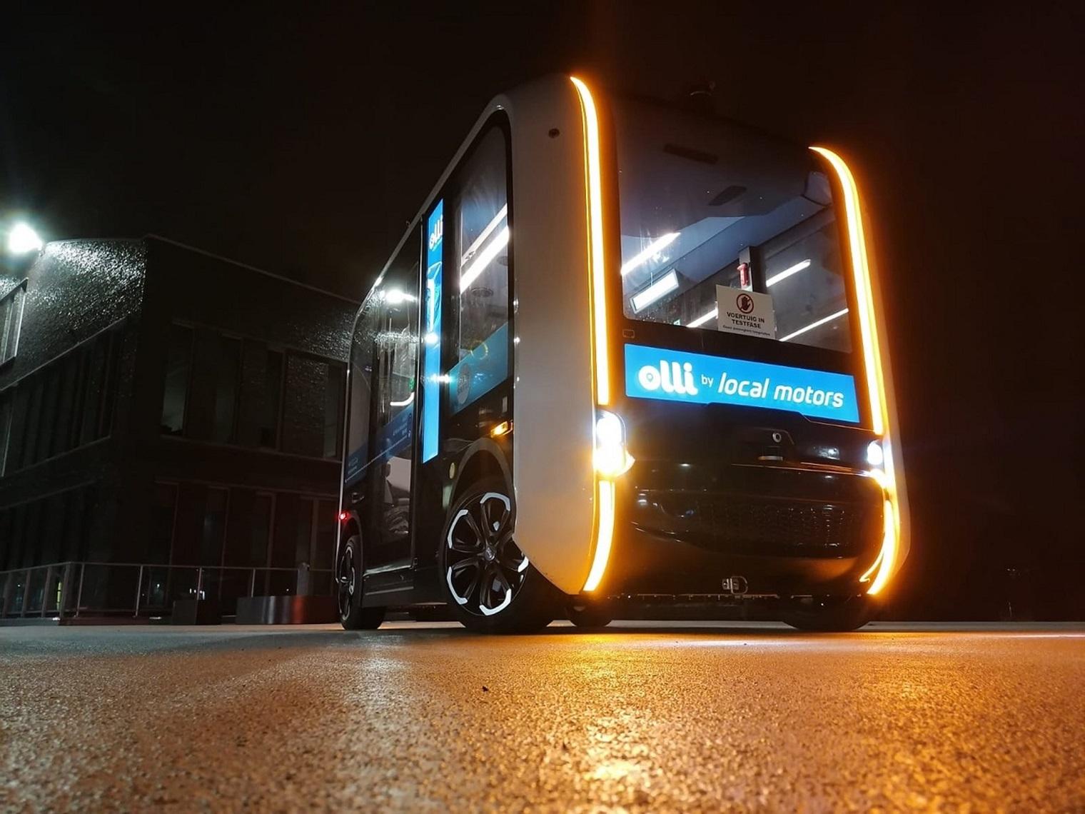 Olli minibus elettrico guida autonoma