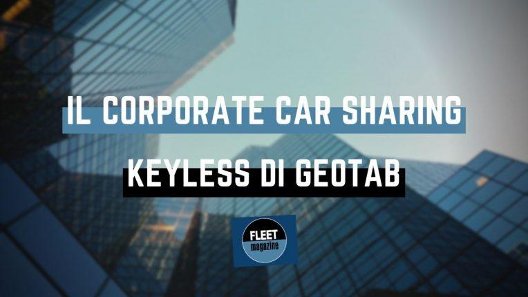 Corporate car sharing keyless Geotab