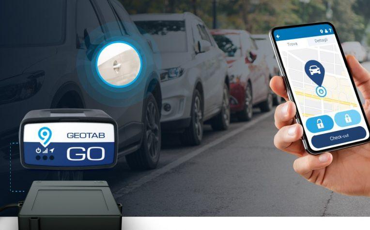 Geotab keyless corporate car sharing
