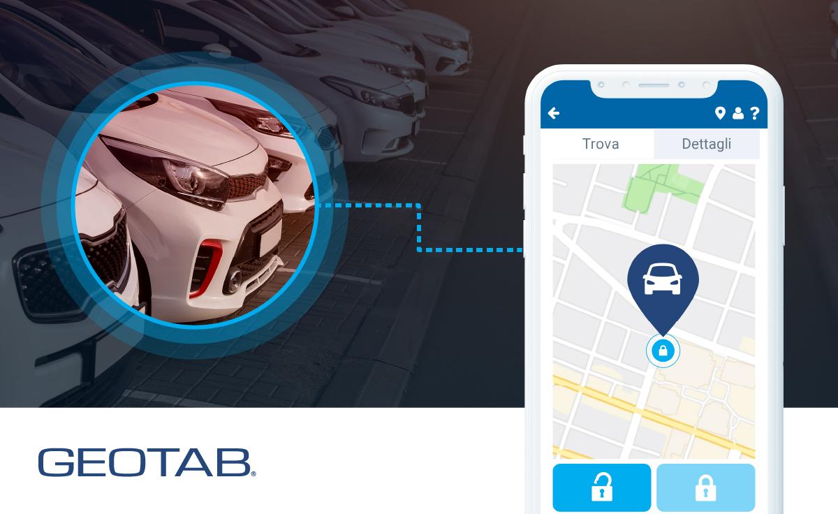 Geotab keyless corporate car sharing tecnologia