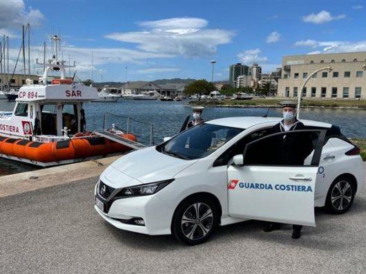 guardia costiera adotta auto elettriche