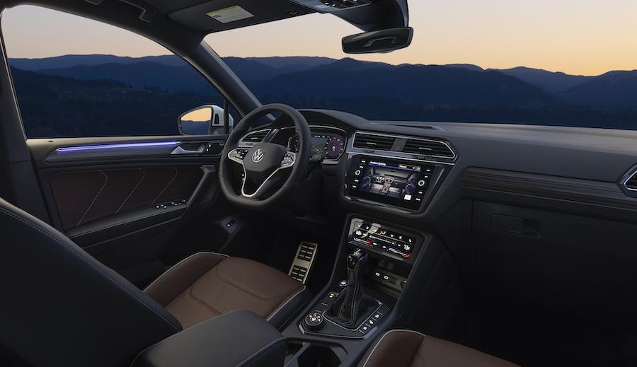 interni di Volkswagen Tiguan Allspace 2022