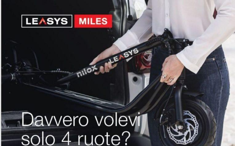 leasys miles offre monopattino elettrico nilox